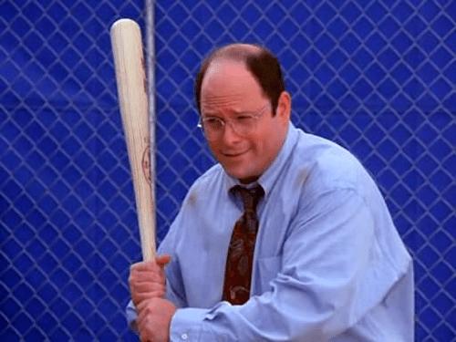 Jason Alexander as George Costanza in Seinfeld