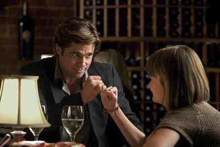 Brad Pitt and Kerris Dorsey in Moneyball