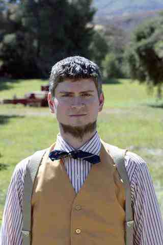 Michael Schur as Mose in The Office Garden Party