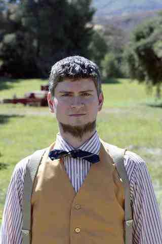 Michael Schur as Mose in The Office Garden Party