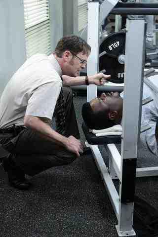 Rainn Wilson as Dwight Schrute, Craig Robinson as Darryl Philbin from The Office Mrs. California
