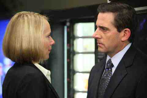 Amy Ryan as Holly Flax, Steve Carell as Michael Scott in The Office PDA