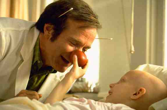 Robin Williams as Patch Adams in Patch Adams