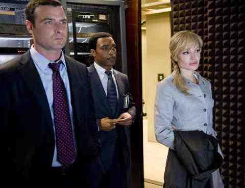Angelina Jolie, Liev Schreiber, and Chiwetel Ejiofor in Salt