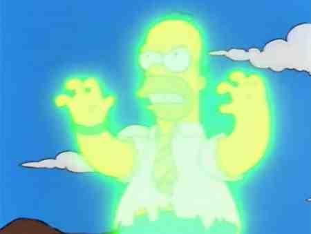 Homer Simpson Irradiated Glowing