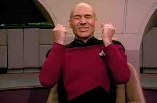 Picard Winning Yes Happy