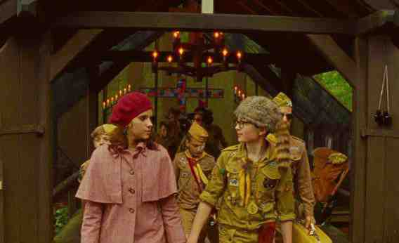 Jared Gilman and Kara Hayward in Wes Anderson's Moonrise Kingdom