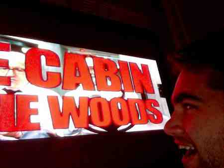 Watching The Cabin In The Woods on Blu-Ray