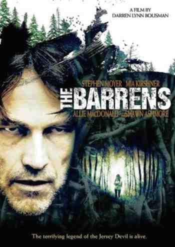 Movie poster for The Barrens starring Stephen Moyer