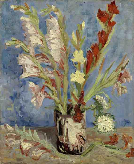 Van Gogh: Vase with Gladioli and China Asters