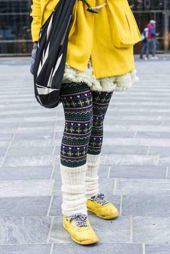 CLR Styreet Fashion: Connemara Socks legwarmers, Reebok trainers,