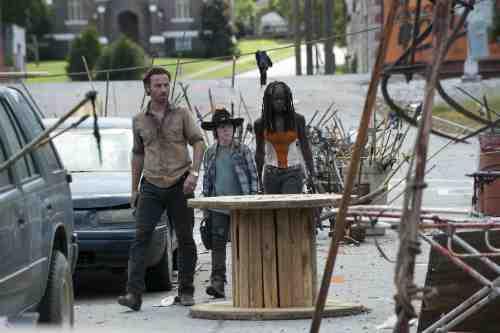 Walking Dead Rick Carl Michonne