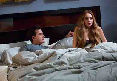 SCARY MOVIE 5, from left: Charlie Sheen, Lindsay Lohan, 2013