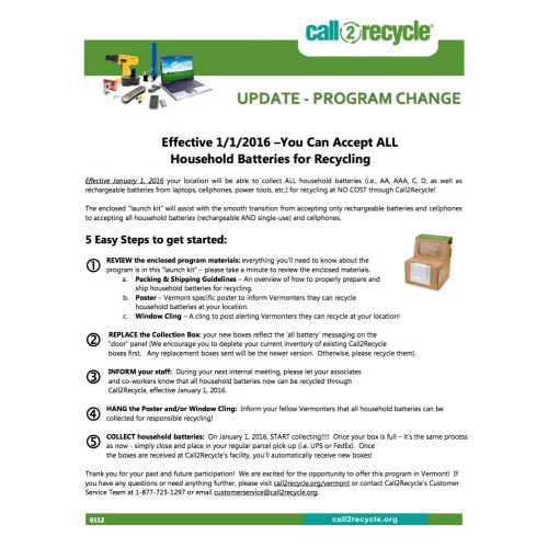 small resolution of Vermont Collection Sites   Call2Recycle   United States