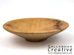 Figured beech bowl, 18cm dia, 4.5cm high [sold]