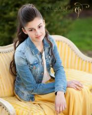 yellow chair senior pictures