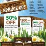 Summer Spruce Up Specials!
