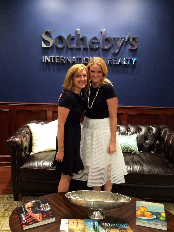 Our Director of Marketing Laurel Cecila (L) with Natalie Gilmore, Director of Global Marketing for Sotheby's International Realty, at the SIR Global Marketing Summit at Realogy Headquarters in Madison, NJ.