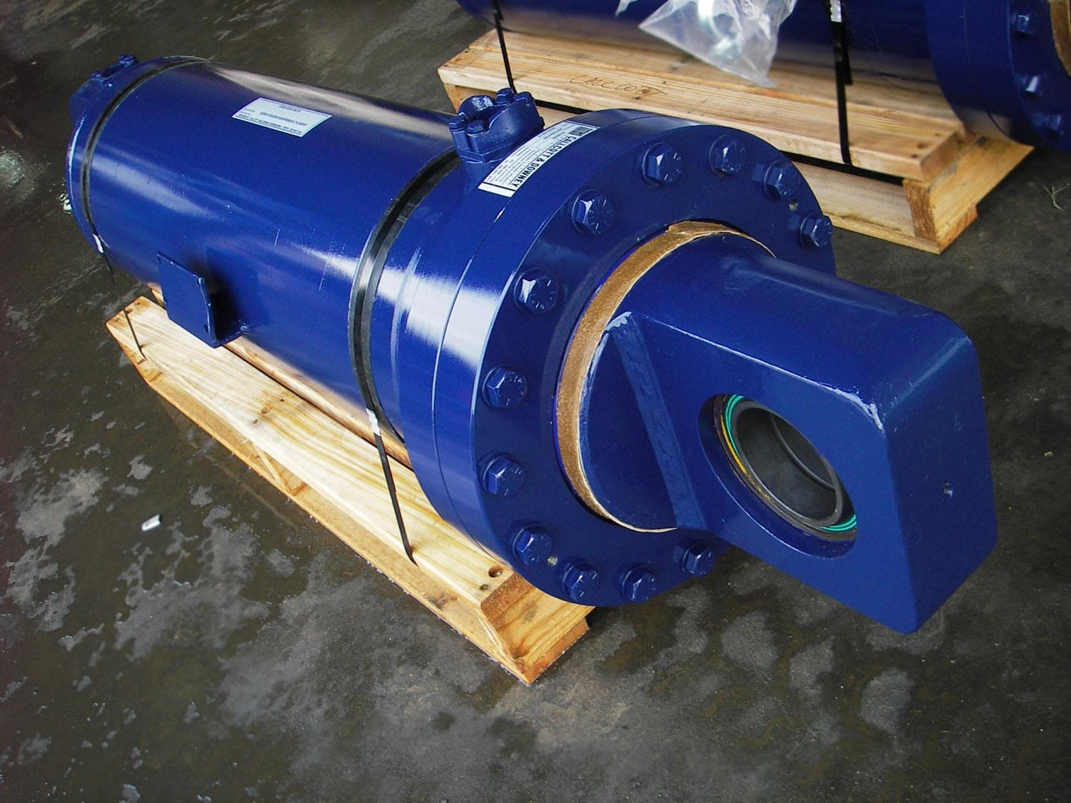 Repaired Blue Industrial Cylinder