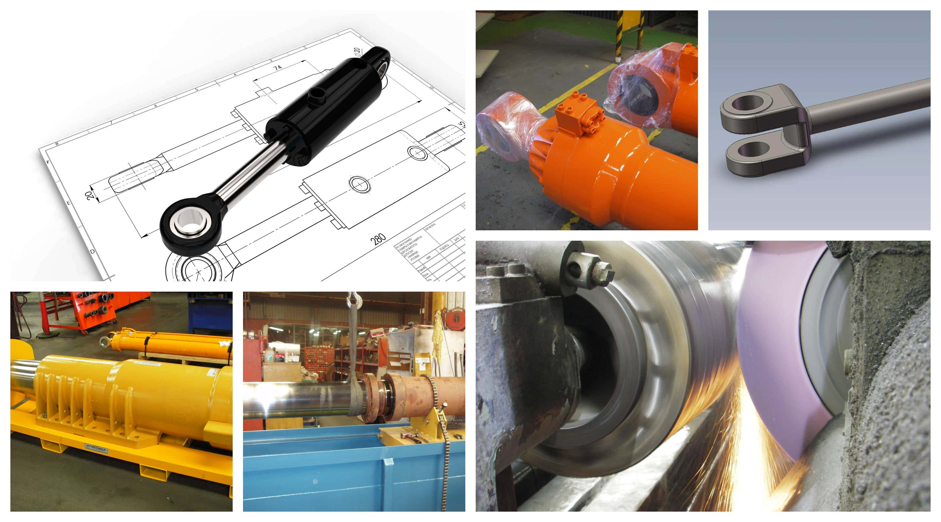 Hydraulic Cylinder Collage