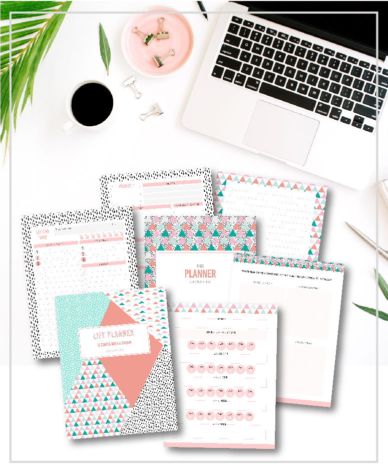 photo about Printable Life Planner titled contribute magnet templates, stationery and printables in direction of really encourage
