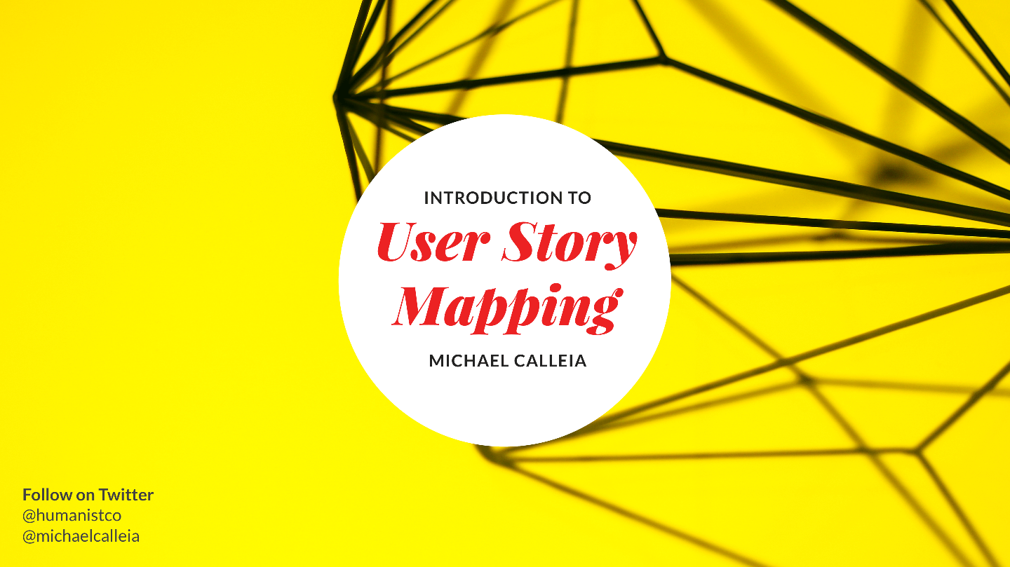 User Story Mapping presentation cover