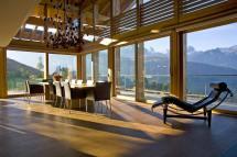 Modern Swiss Chalet Interior