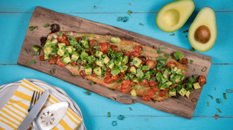 Grilled Salmon - The role of avocados in maternal diets