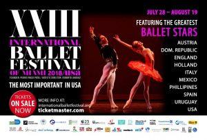 Post Card front FINAL 300x203 - HA LLEGADO EL XXIII FESTIVAL INTERNACIONAL DE BALLET DE MIAMI 2018
