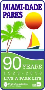 Parks 90th Anniversary Logo 151x300 - The Parks Department Miami-Dade celebrates its 90th anniversary inspireusto live a life outdoors