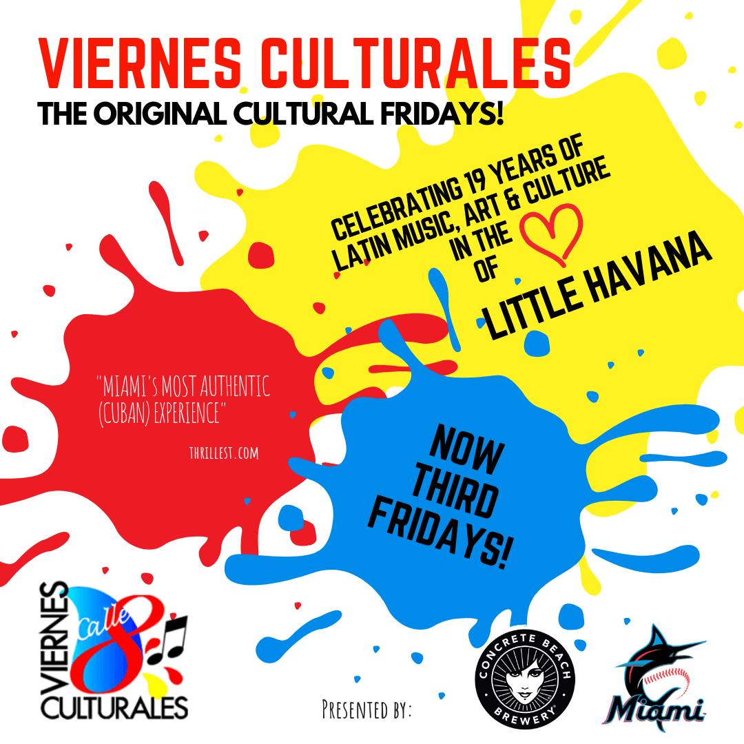 Viernes Culturales promo flyer
