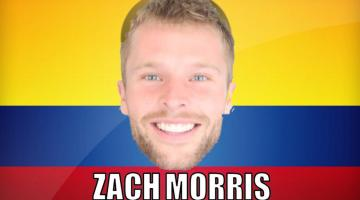 Zach Morris, famous YouTuber, with Colombian flag in background