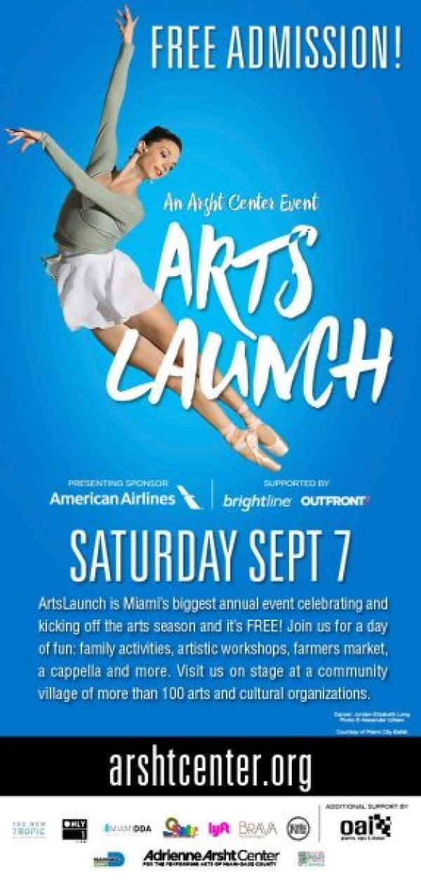 ArtsLaunch CV Partner 600 v3 - The Arsht Center to Host ARTSLAUNCH 2019