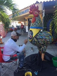 "artist e1574675725163 225x300 - Pablo's ""Roosters"" receive a makeover just in time for Art Basel 2019"