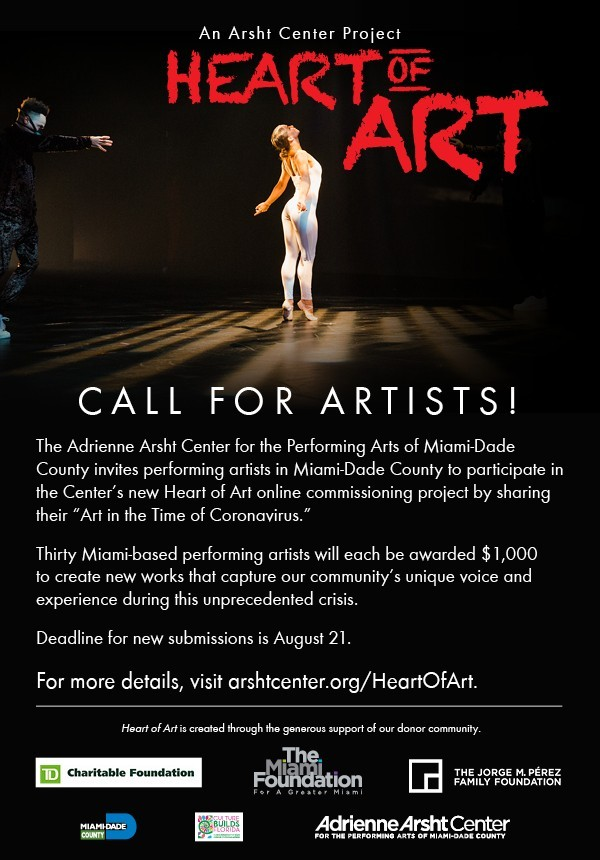heart of art flyer - Heart of Art project looking for performing artists