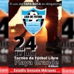 Gran Inauguración del Campeonato de fútbol libre copa Mi Parada y Venezuela Sport en Playa Grande