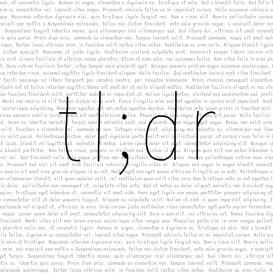 Image result for tl:dr