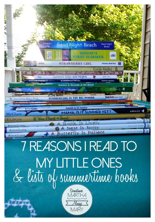 7 reasons I read to my little ones PINTEREST