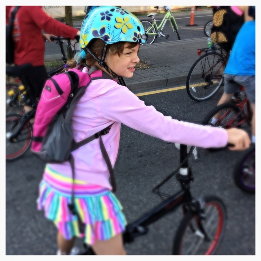Ready to Pedal Her First Bridge Pedal on Her Ownp