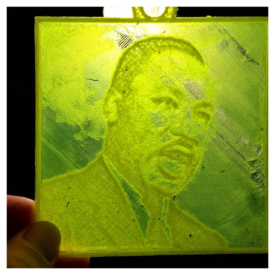 Martin Luther King Jr. Lithopane