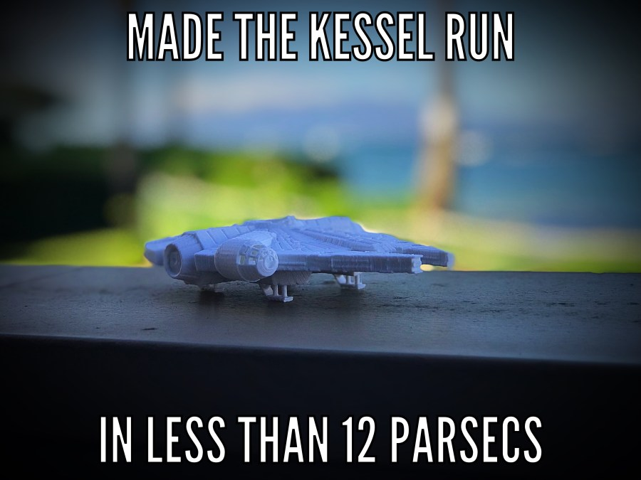 Made the Kessel Run in Less Than 12 Parsecs