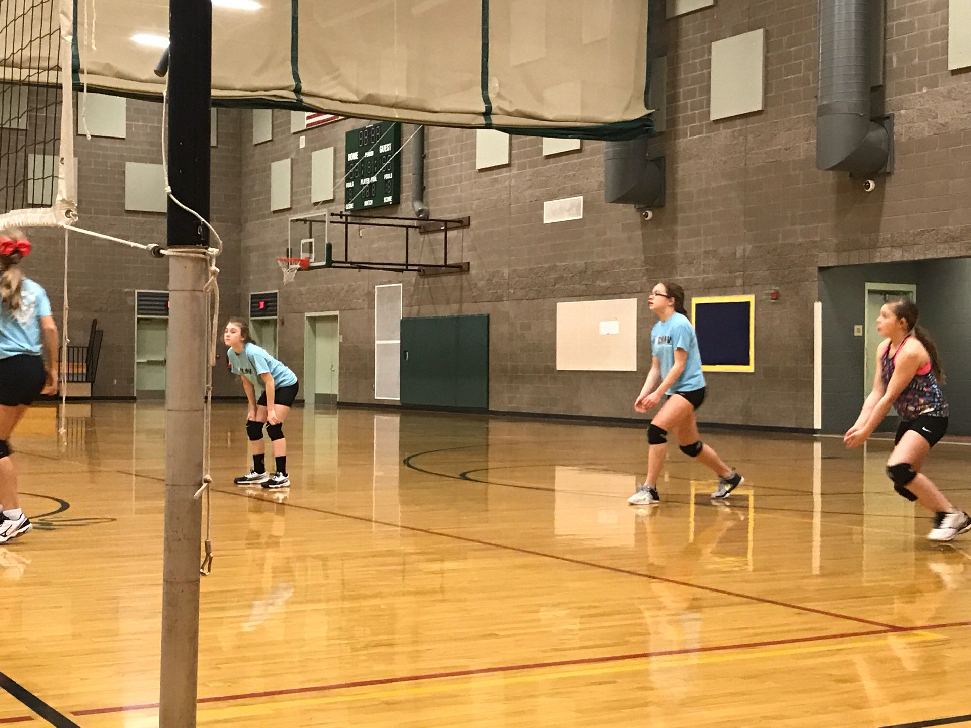 Volleyball practice (@ Thomas Jefferson…