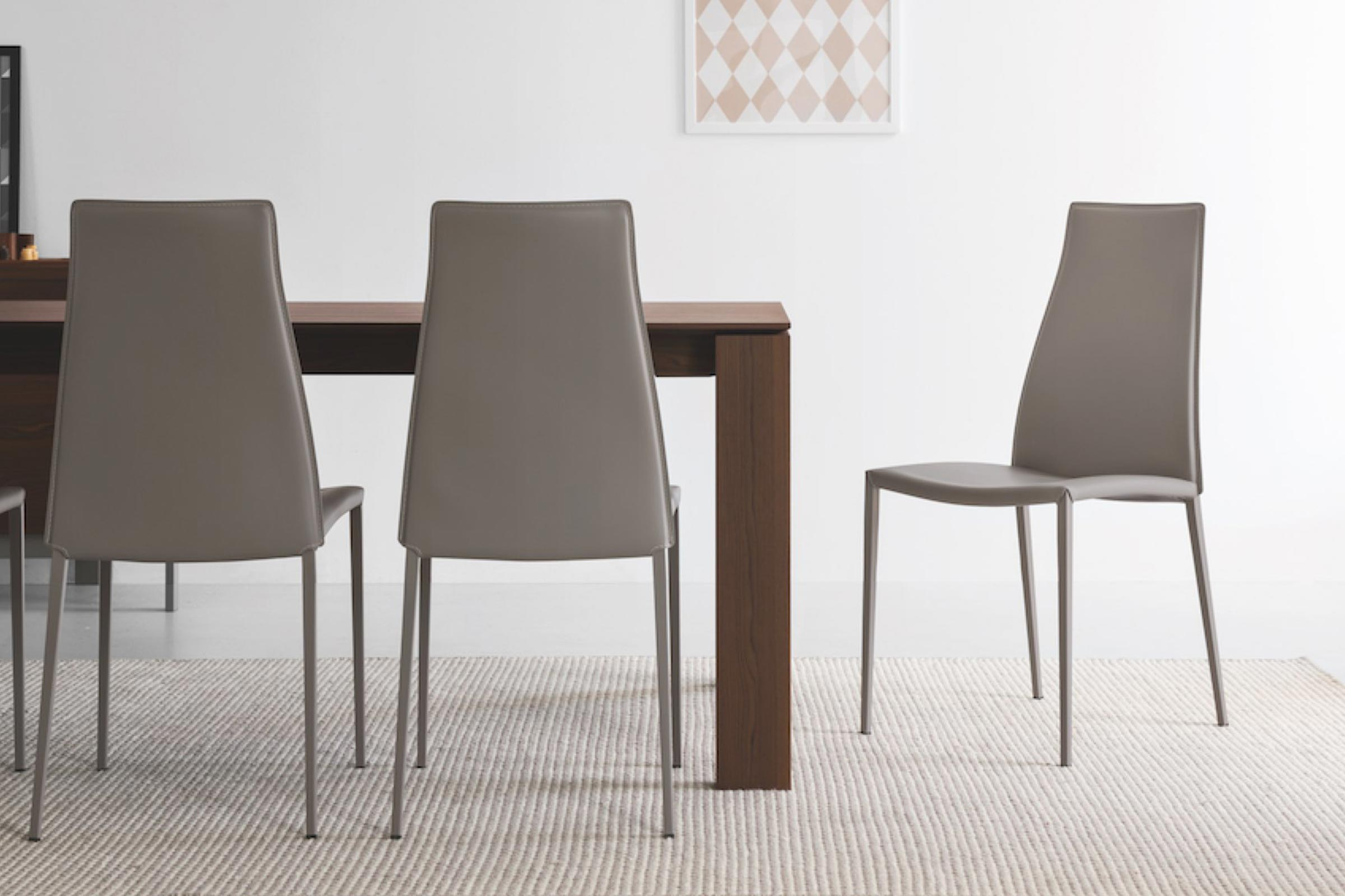 Calligaris Dining Chairs Aida Minimalist Leather Upholstered Chair Calligaris Toronto Vaughan