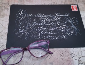 Practice Calligraphy by an Envelope Exchange