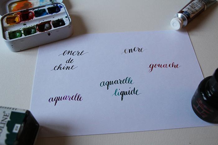 Débuter la calligraphie - encre
