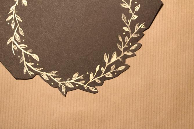Carte Joyeux Noël Calligraphique - Découpe