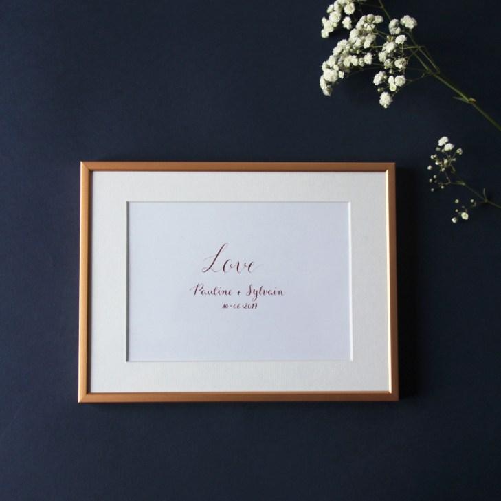 Calligraphique sur etsy.fr   Calligraphie personnalisée cadeau mariage
