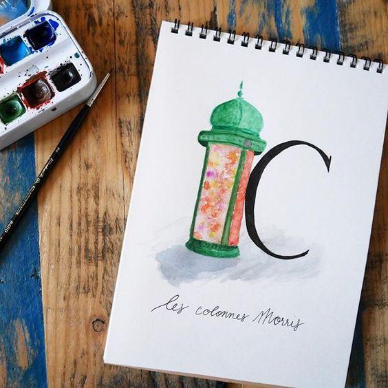 abecedaire-parisien-C - Calligraphique
