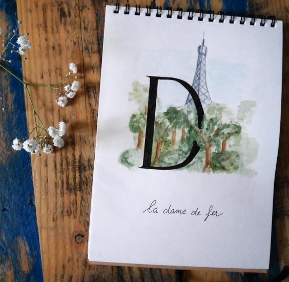 Abécédaire parisien - Calligraphique
