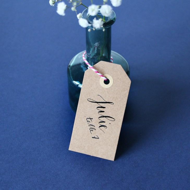 Calligraphique sur etsy.fr   Calligraphie personnalisée marque-places mariage événement